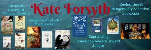 Kate Forsyth banner with her book jackets