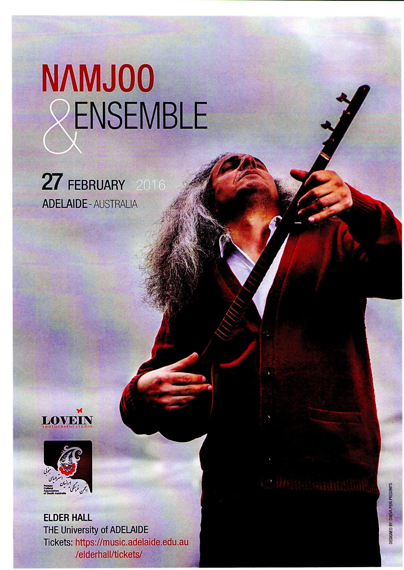 Namjoo and Ensemble – Iranian Music Concert