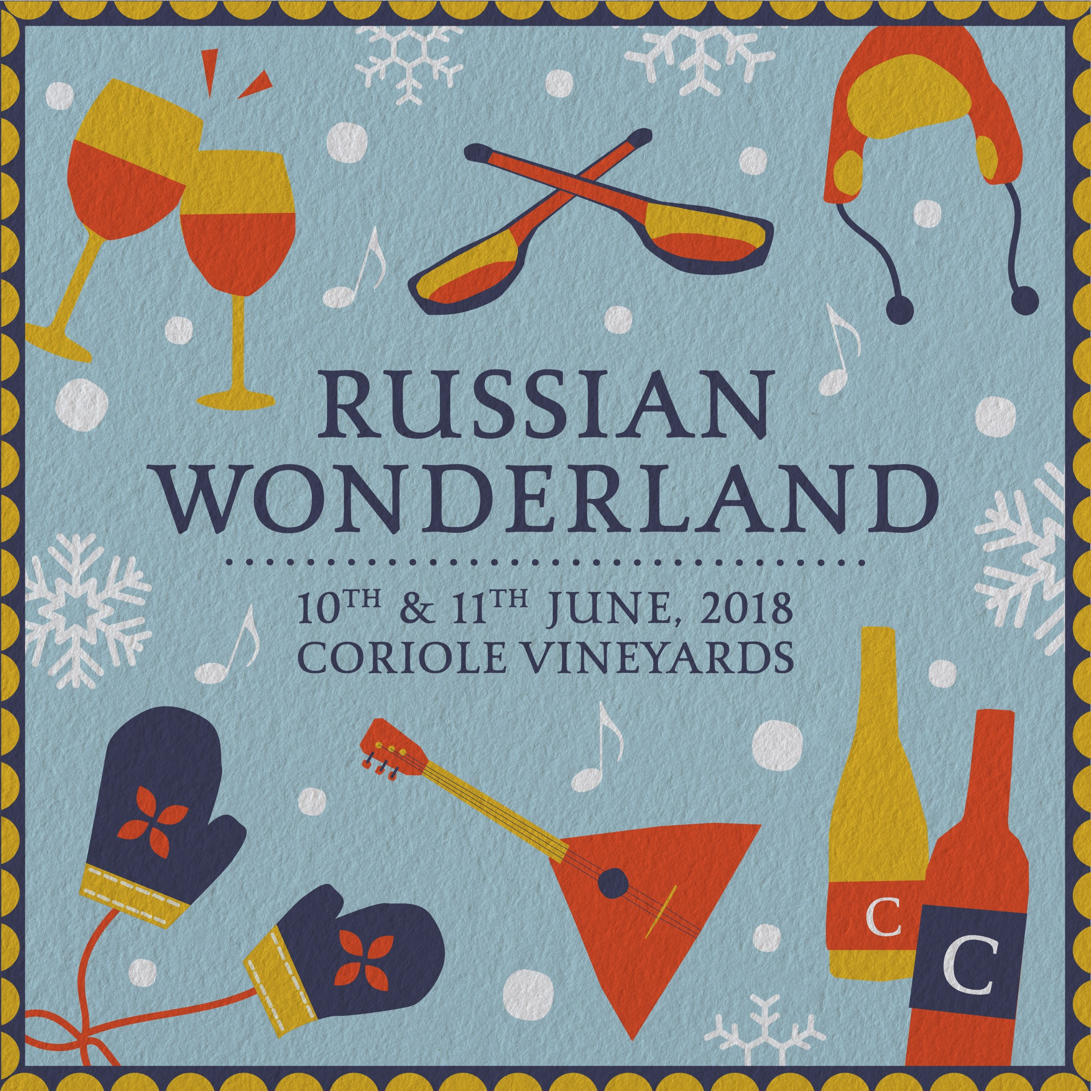 Sea & Vines Russian Wonderland at Coriole