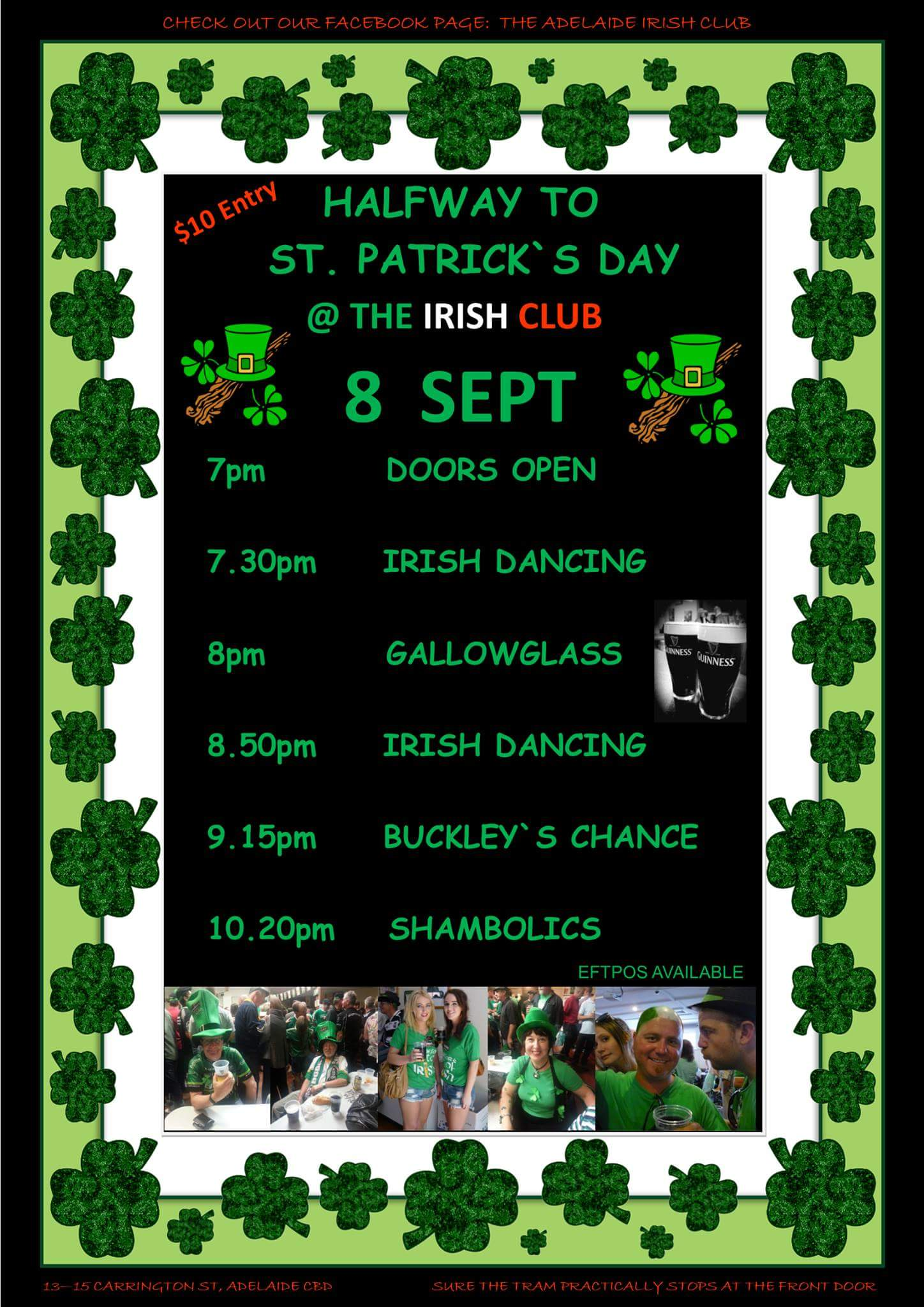 Halfway to St Pats..Music Bands & Dance