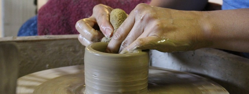 Learn pottery from expert potter Cory Plotter at Folkmoot in February and March!