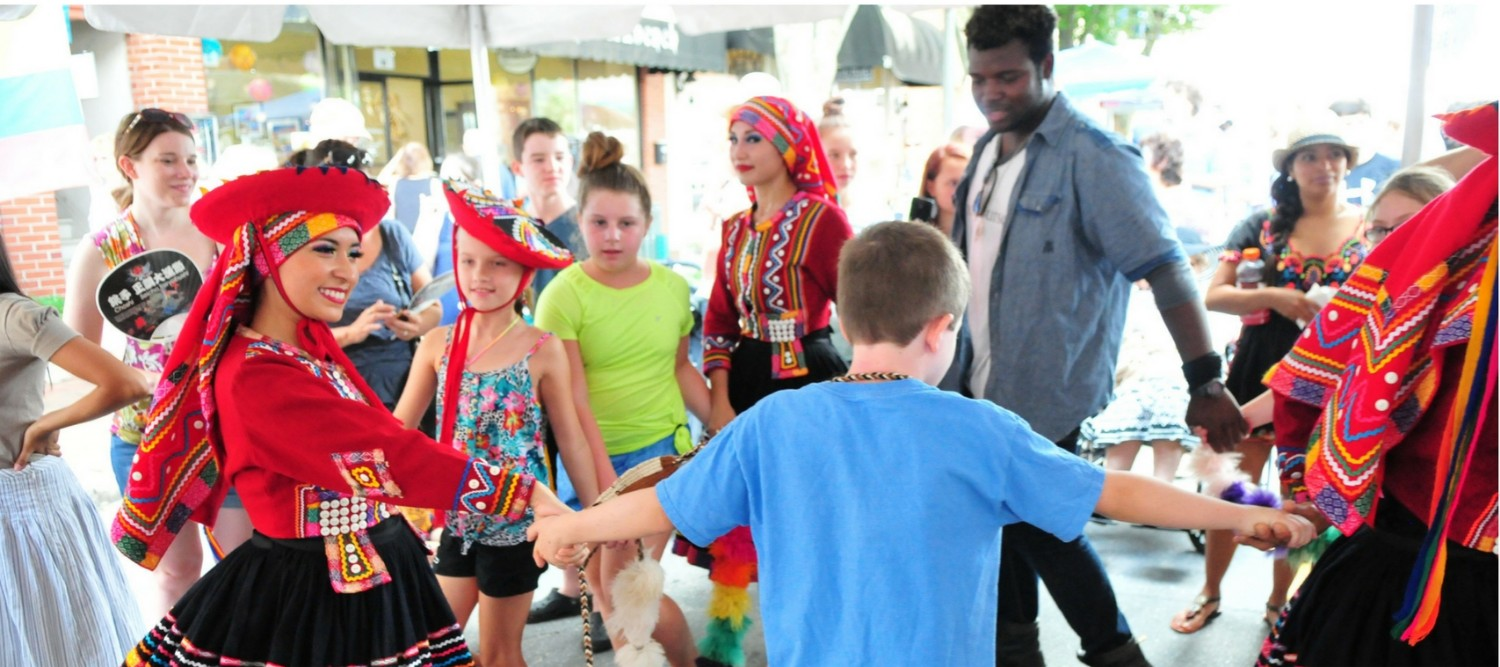 Kids just naturally want to dance! Camp Folkmoot!