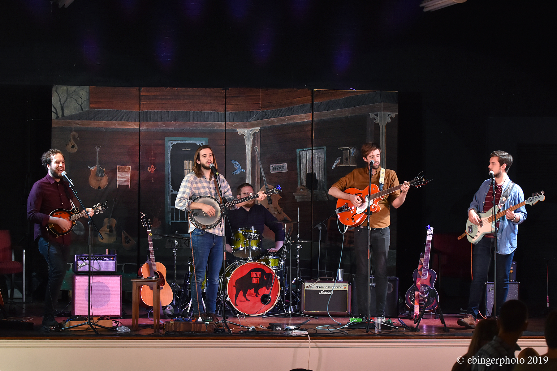 Americana band Grizzly Goat at the Cold Mountain Music Festival kickoff at Folkmoot
