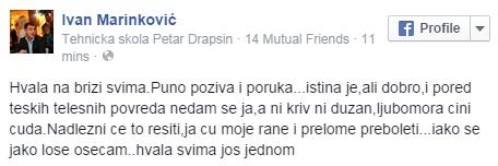 Ivan Marinkovic fejsbuk stejment