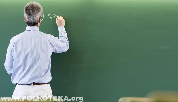 Profesor na tabli pise ispovesti