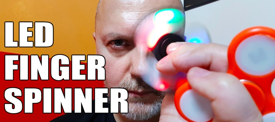 Led Finger fidget spinner