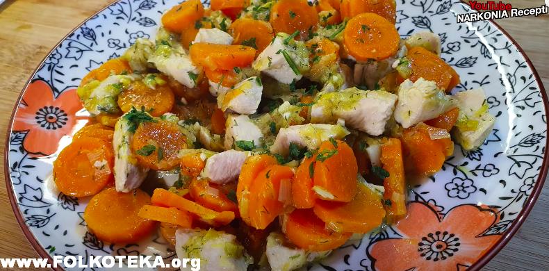 dinstana sargarepa mrkva sa piletinom narkonia recepti kako napraviti sastojci priprema zdrava hrana