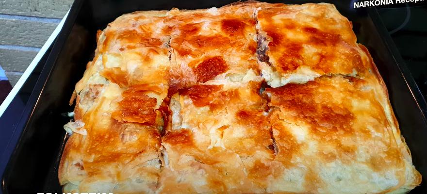 domaci ravni burek ravna pita narkonia recepti kako napraviti burek sa domacim korama razvlacenje kora