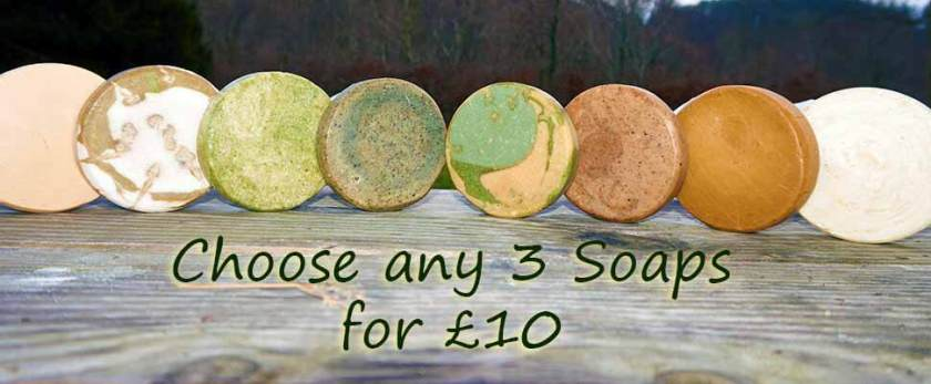 Natural Soap choice of any three offer
