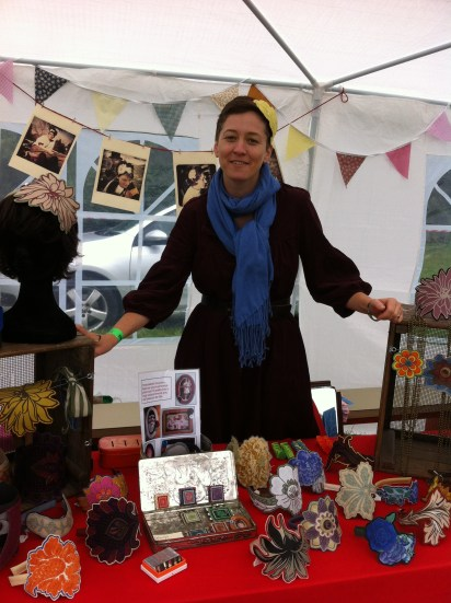 Anne-W of Frabjous Crafts is happy that Folkstock is on her doorstep