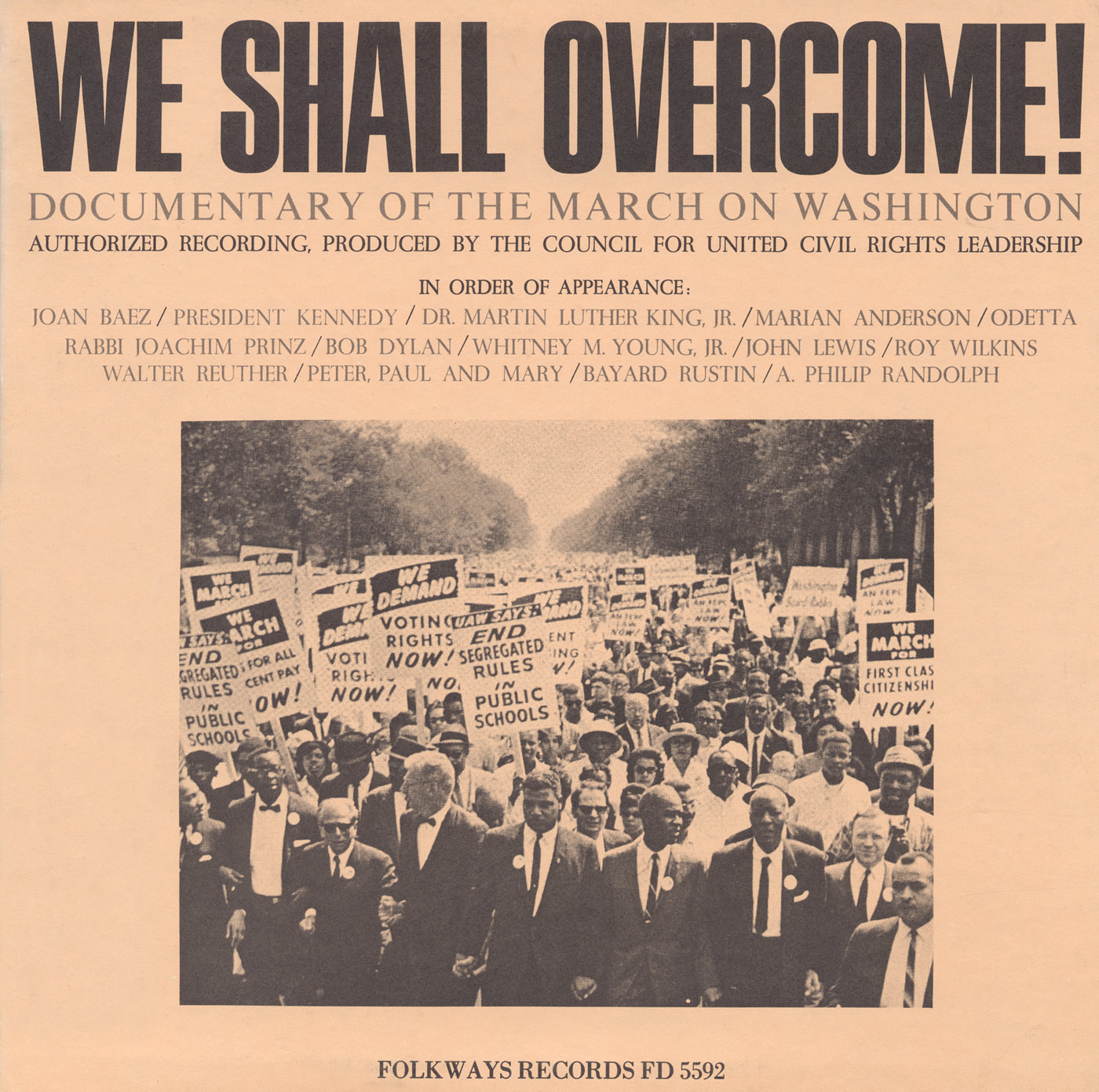We Shall Overcome Documentary Of The March On Washington