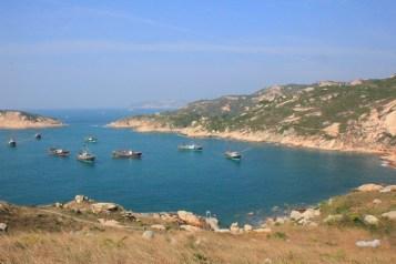 漁船都停泊在平靜的南氹灣