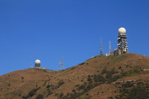 大帽山的氣象站