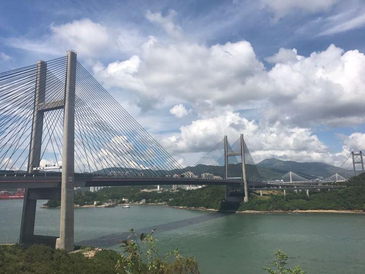 欣賞大橋景色
