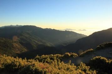 遠眺中央山脈各個山峰
