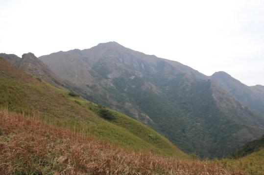 左邊狗牙嶺,中間是鳳凰山,還有右邊的茶壺咀