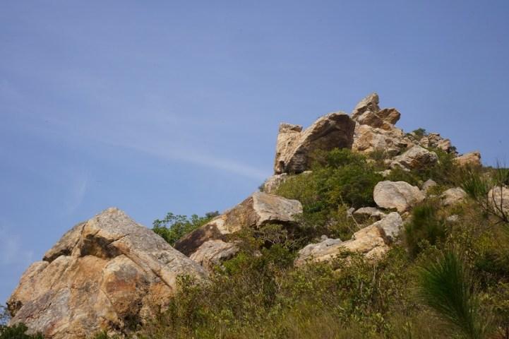 獅山的奇岩怪石