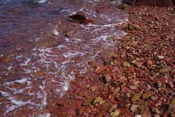 烏洲塘附近的紅色石灘