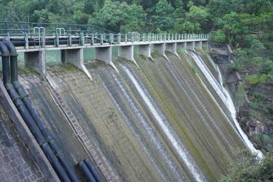 洪水坑水塘的水壩