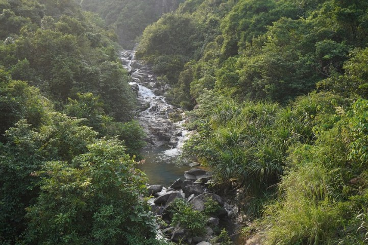 山道旁的虎白石澗