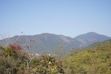 遠眺深圳梧桐山脈