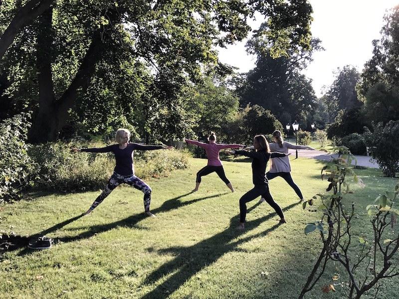 Yoga im Park Baden bei Wien