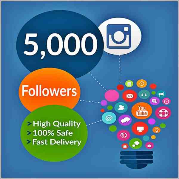 Buy 5000 Instagram Followers And Likes