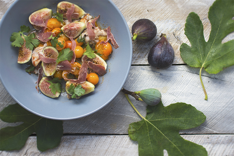 Figs & Leaves Warm Fish Salad (Vibrant)