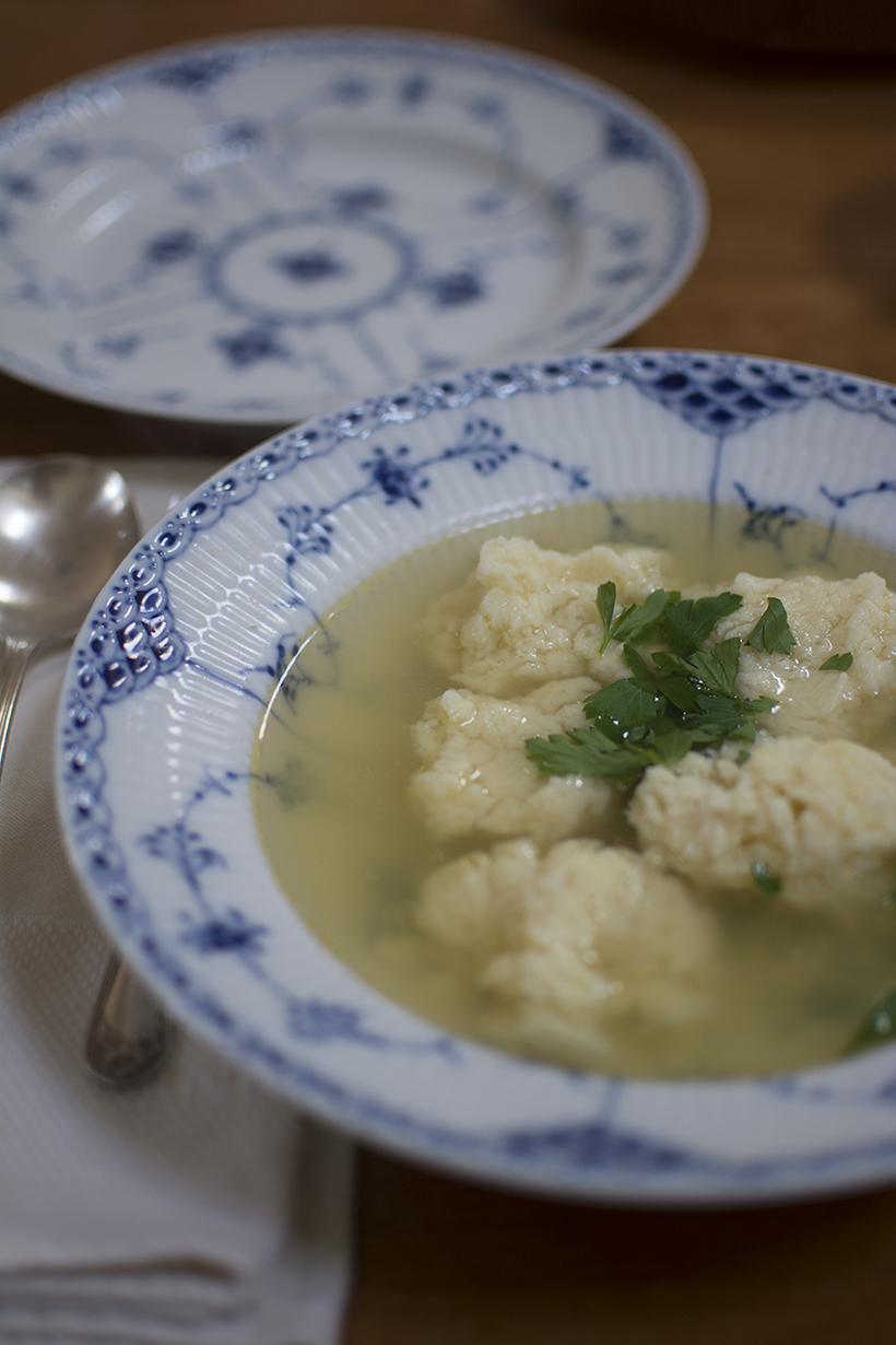 Dumpling Soup Close-Up