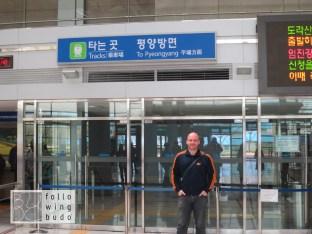Zuglinie in Nordkoreas Hauptstadt Pyjöngjang