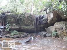 Mit zuwenig Wasser fiel auch der Wasserfall etwas sparsam aus