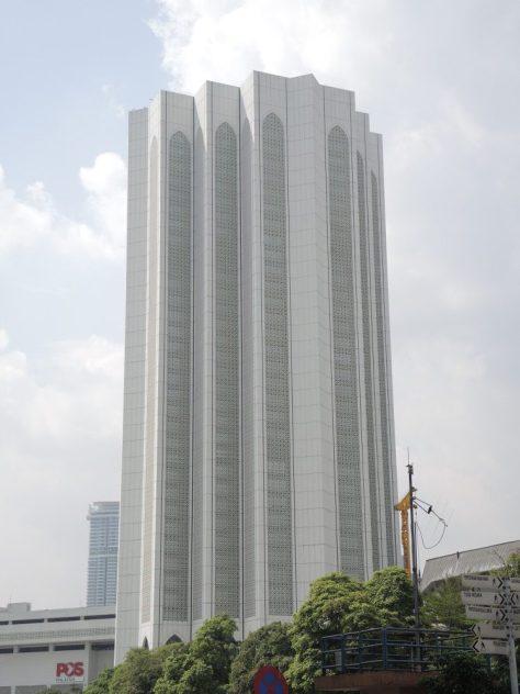 Kompleks Dayabumi. Eines der ersten Hochhäuser Kuala Lumpurs. 1984 erbaut.