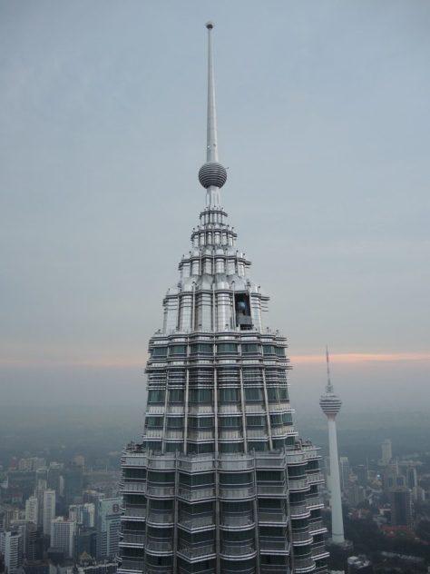 Blick auf die benachbarte Turmspitze