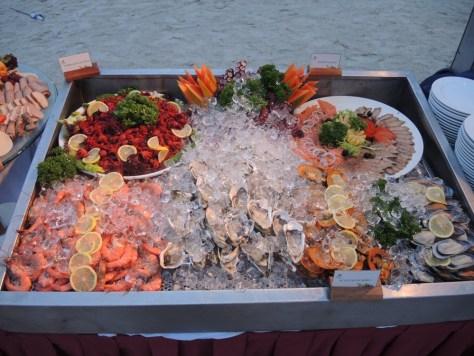 Meeresfrüchte auf Eis