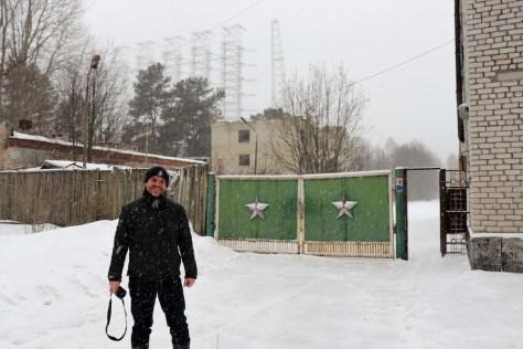 Eingang zum verlassenen Militärgelände.