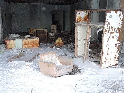 Überreste eines Möbelhauses