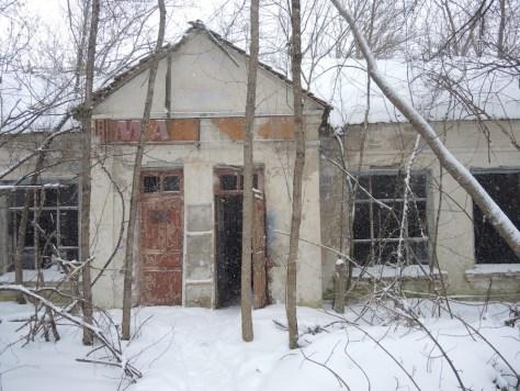 Der Eingang des ehemaligen Lebensmittelgeschäfts.
