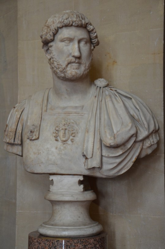 Cuirassed paludamentum bust of Hadrian, from Baiae (Italy), ca. 127 AD, now in Blenheim Palace UK
