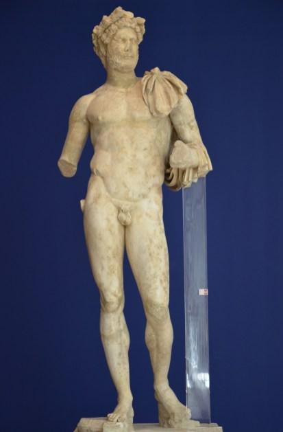 Statue of Emperor Hadrian, found alongside that of his wife Sabina in the Roman theatre, Vaison-la-Romaine