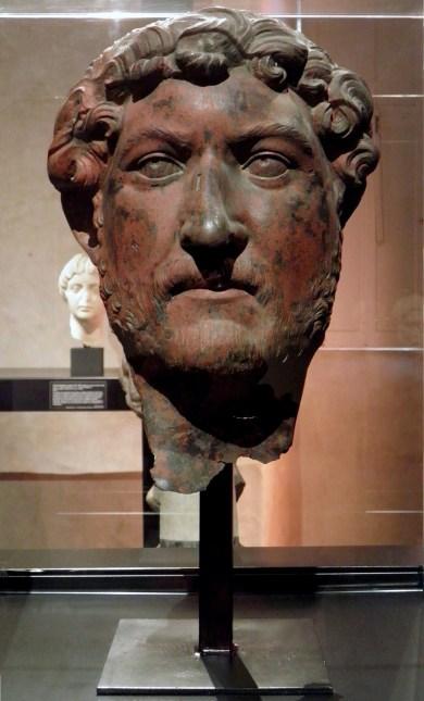 Bronze head of Hadrian, from Egypt, Musée du Louvre