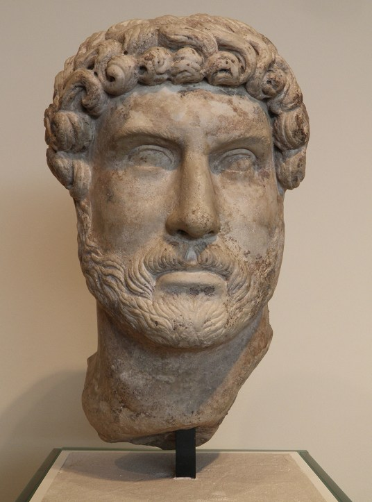 Marble head of Hadrian, Romisch-Germanisches Museum, Cologne
