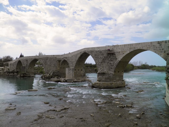 The Eurymedon Bridge near Aspendos, a late Roman bridge over the river Eurymedon © Carole Raddato