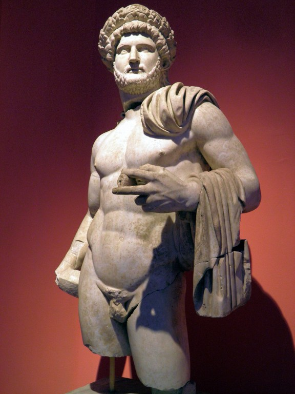 Statue of Hadrian wearing the Corona Civica (Civic Crown), from the North Nymphaeum at Perga, Antalya Museum