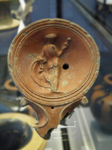 Terracotta oil lamp with depiction of Venus, 2nd century AD
