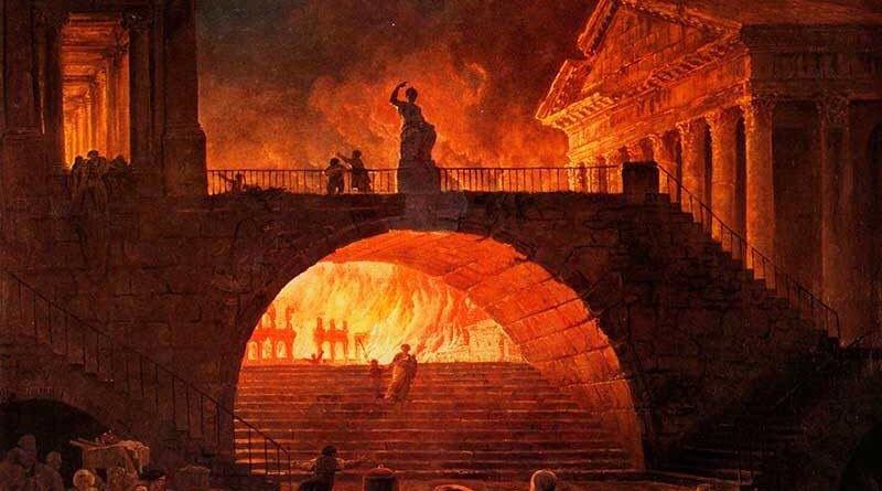 Magnum incendium Romae (the Burning of Rome, 64 AD) – Nero the ...