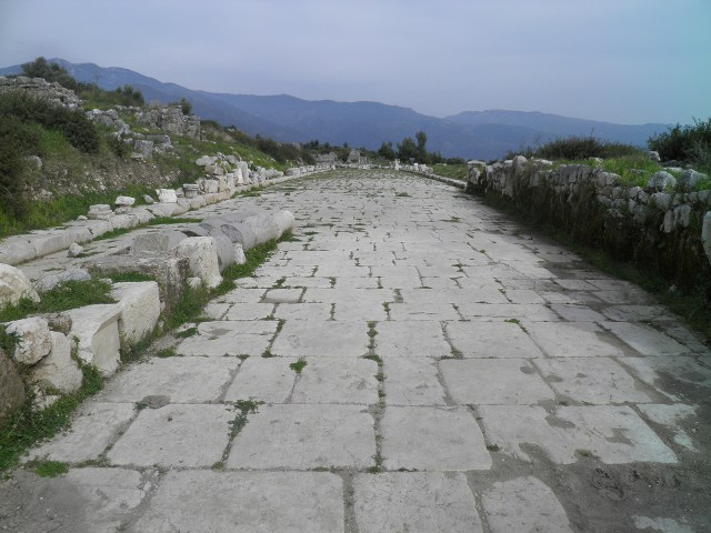 Roman colonnaded street running north-south (decumanus), Xanthos © Carole Raddato
