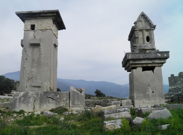 Lycian monumental tombs, the Harpy tomb and the pillared sarcophagus, Xanthos © Carole Raddato