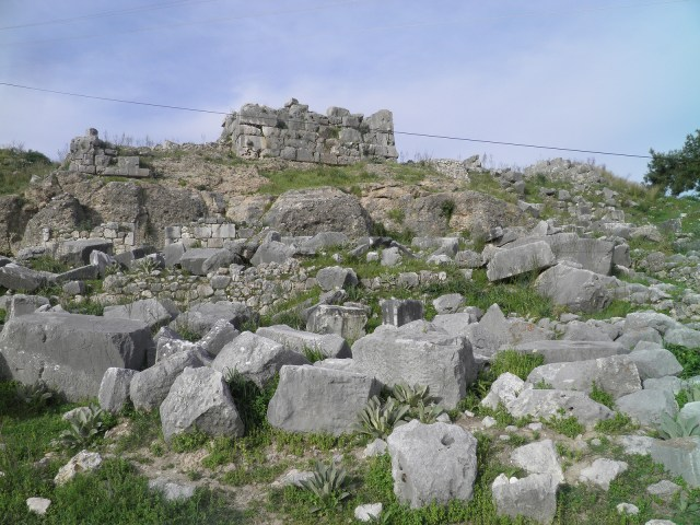 The original site of the Nereid Monument, containing only a few stone blocks and the monument base, Xanthos © Carole Raddato