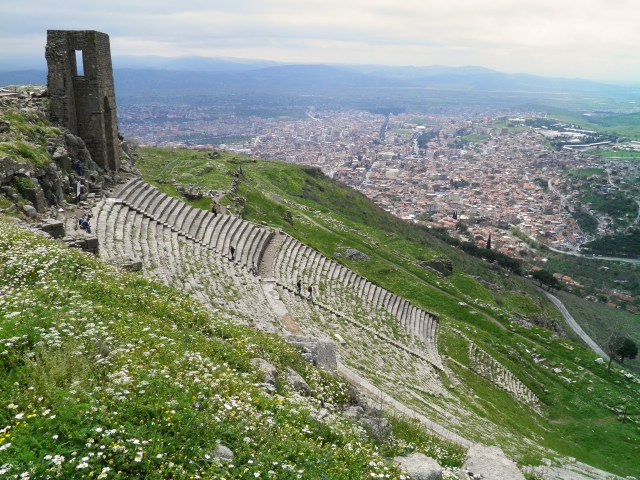 The Hellenistic theatre on the Upper Acropolis, the steepest theatre of the ancient world, Pergamon Carole Raddato