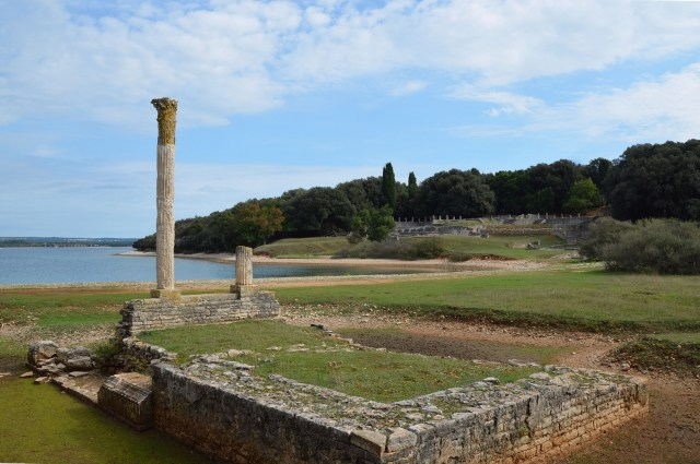 The Temple of Venus and the Roman Villa in the Bay of Verige, Brijuni Islands, Croatia